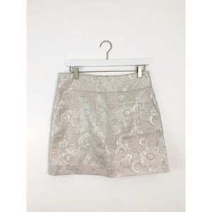 Banana Republic Metallic Polka Dot Skirt